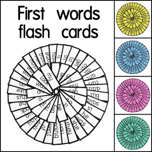 classroom 54 Educational EYFS reception class first words flash cards for home