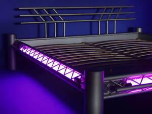 Details Zu Xxl Designer Bett Neonbett Metallbett Neonbett Mod 3p Al W Alu Neon 200x220
