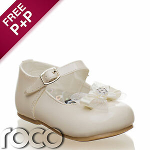 Girls-Cream-Shoes-Baby-Shoes-Christening-Shoes-Flower-Girl-Shoes-Kids-Shoes