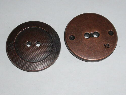 6 pièces grand manteau boutons boutons bouton altkupfer 34 mm article neuf 0033.1