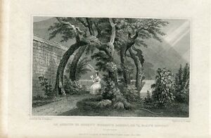 Escocia-An-Arbour-IN-Regent-Murray-039-S-Garden-Engraving-IN-1830-By-S-Lacey