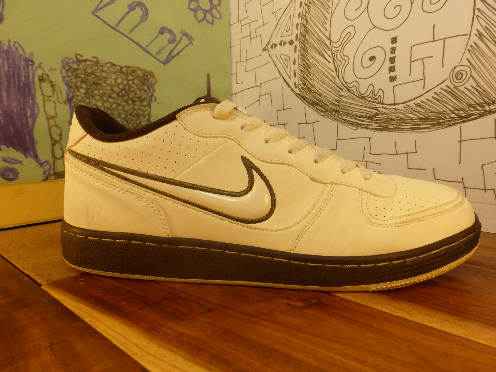 the best attitude 27102 bc600 Men s Nike Air Indee Casual Shoes  White 318488 115 Size 12 White Brown 30