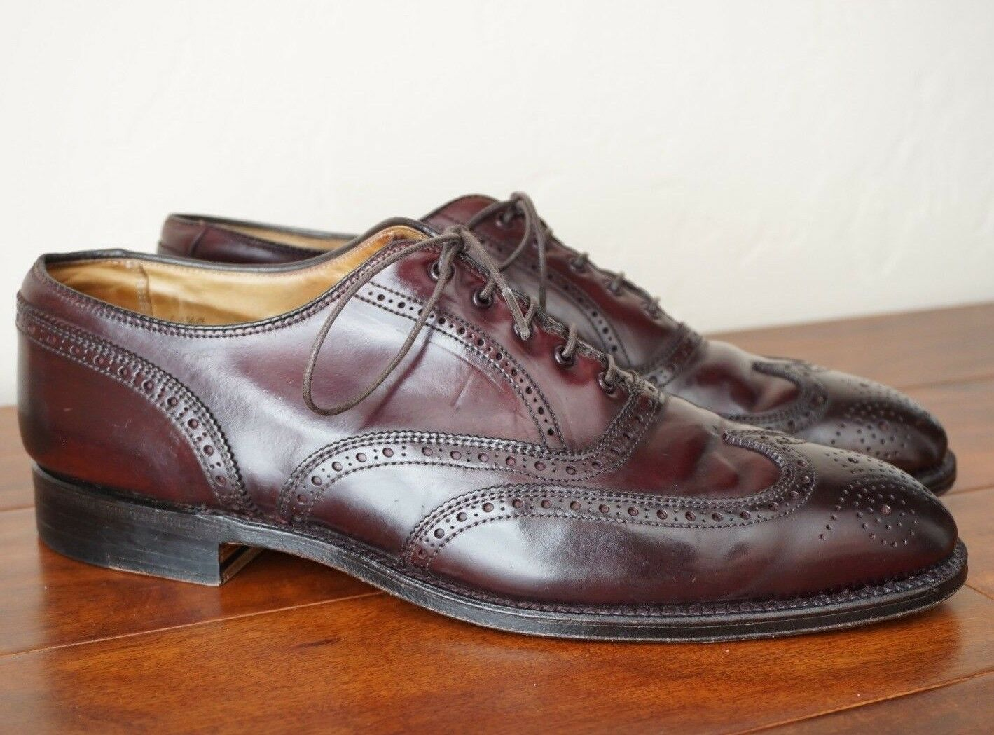 ALDEN 11.5 C BURGUNDY COLOR 8 SHELL CORDOVAN WINGTIP BALMORAL OXFORD