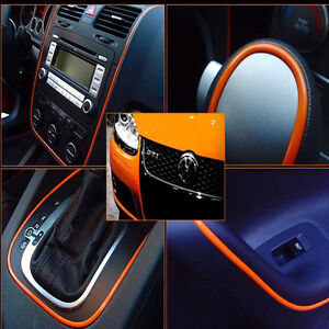 5m car diy interior orange edge gap lines point mouldings trim garnish accessory ebay. Black Bedroom Furniture Sets. Home Design Ideas