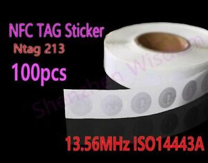 100pcs-NFC-Stickers-Ntag213-RFID-Tag-13-56MHz-ISO14443A