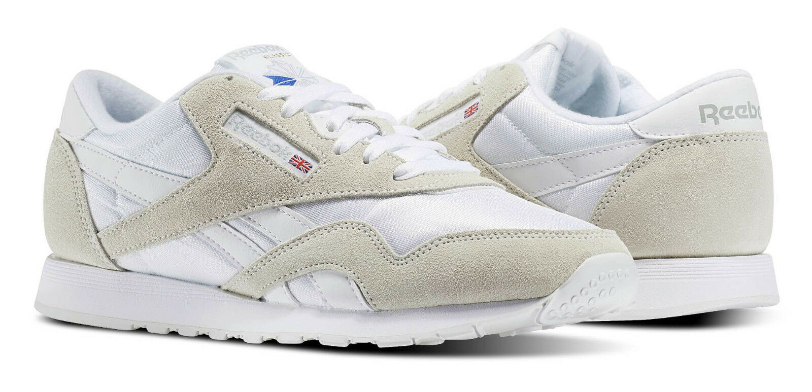 Reebok classic nylon hellgrau, weiße männer laufen tennisschuhe posten 6390