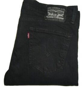 Mens Levi's 511 Slim Fit Black (0168) Stretch Denim Jeans W34 L34