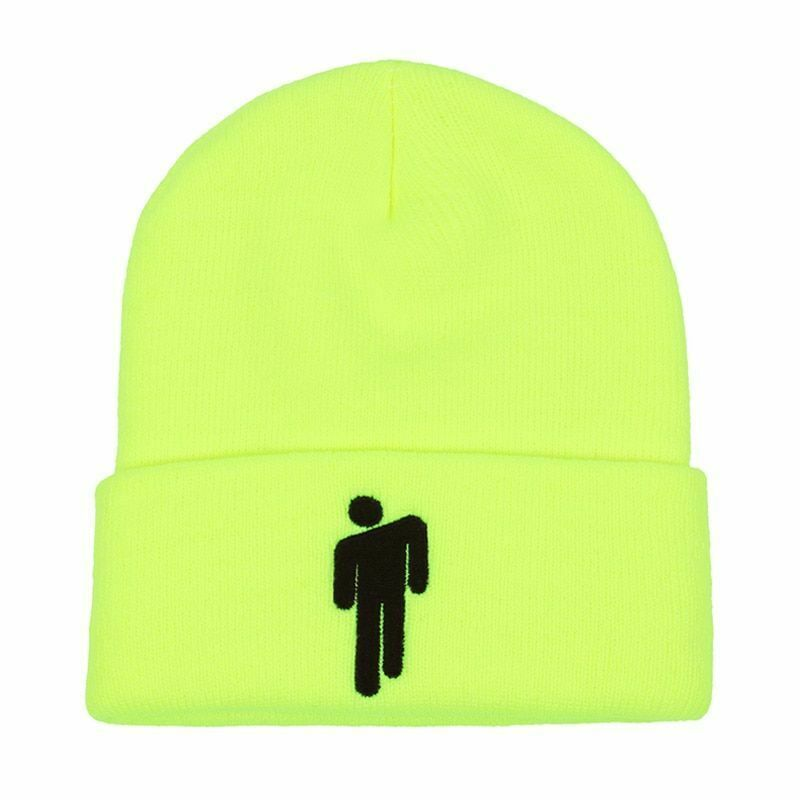Neon-yellow knitted warm Billie Eilish blohsh beanie