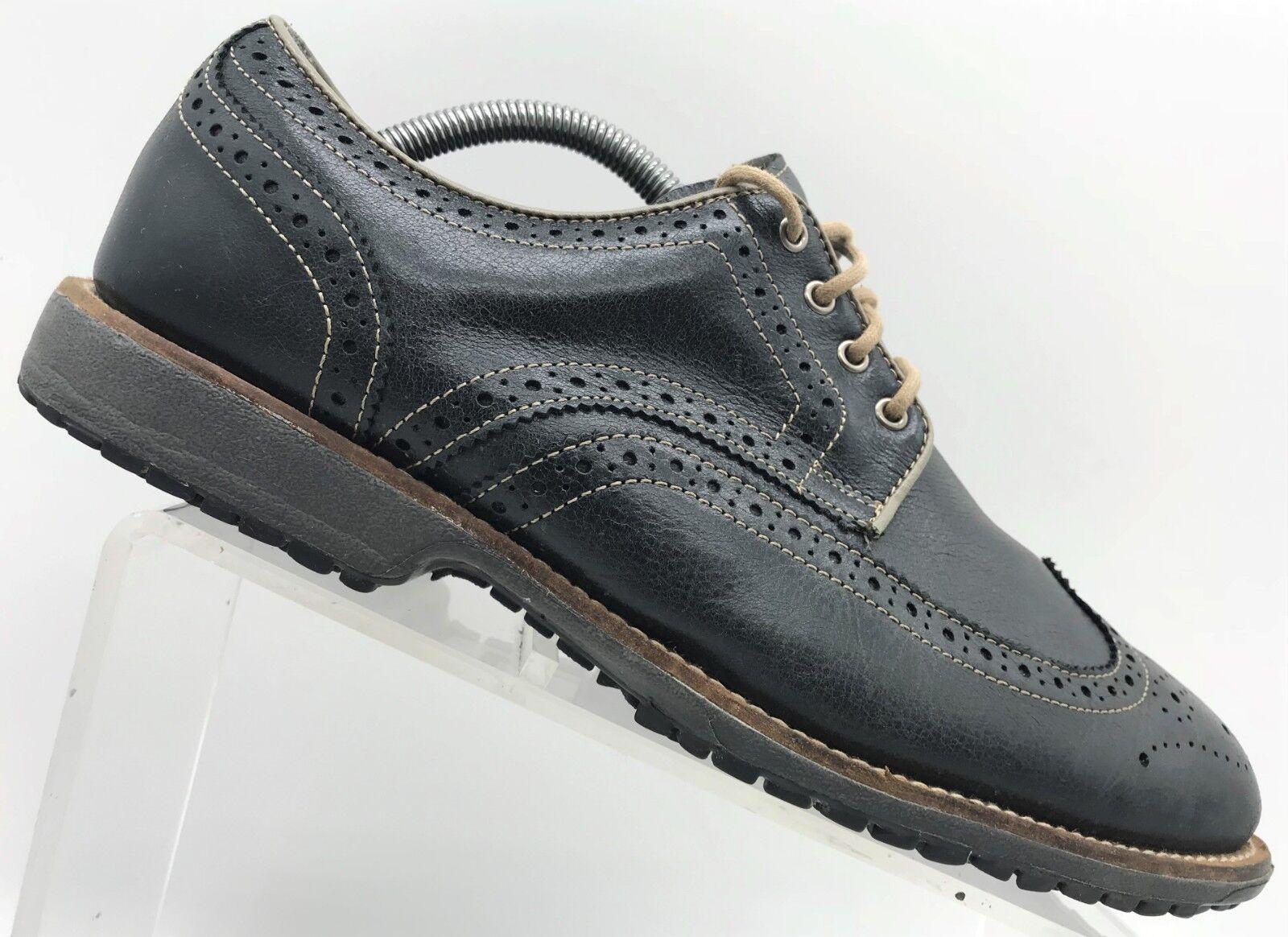 Foot Joy  FJ profesional Negro Cuero punta del ala Oxford Modelo Para Hombre 9 W  ¡envío gratis!