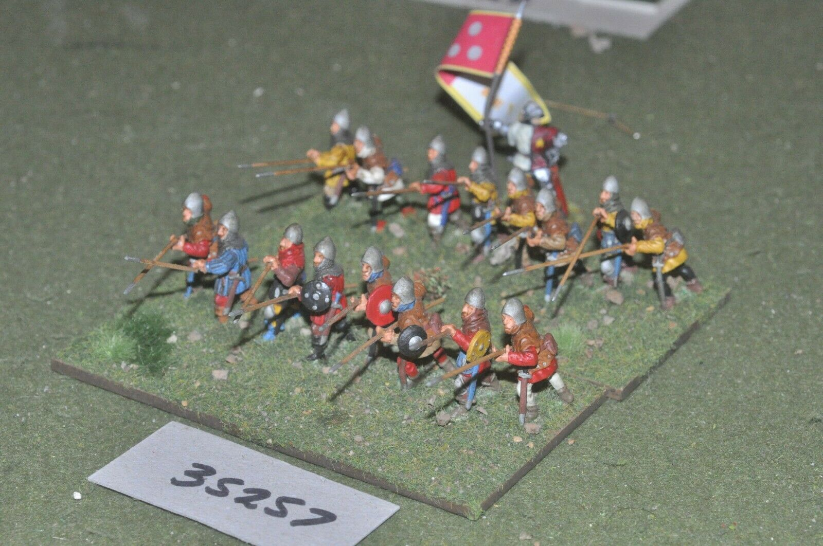 25mm medieval   scottish - pikemen 17 figures - inf (35257)