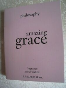 Philosophy Amazing Grace Eau de Toilette - 0.05oz (1.5ml) Sample Vial New Carded