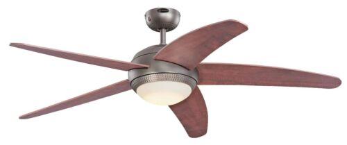 """Ventilatore a soffitto con luce LED e telecomando Westinghouse Bendan Salmone 132 cm 52/"""""""