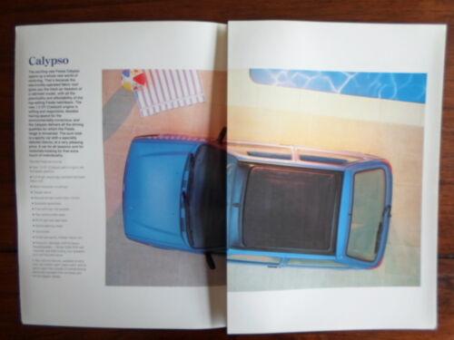 FORD FIESTA CALYPSO Special Edition orig 1991 1992 UK Mkt Sales Brochure