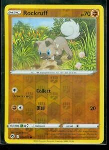 Pokemon ROCKRUFF 029/073 - Champion's Path - Rev Holo - - MINT