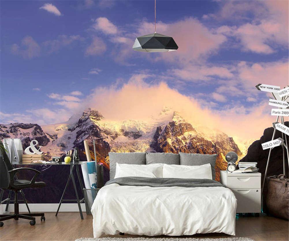 lila Idle Sky 3D Full Wall Mural Photo Wallpaper Printing Home Kids Decor