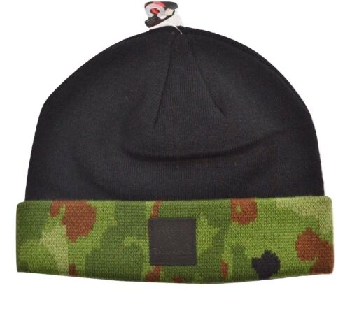 Diamond Supply Co CAMO FOLD Black Camo Black Logo Knit Men/'s Beanie Hat Cap