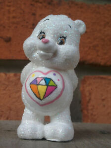 CUSTOM-Care-Bear-Collectible-Mini-Figure-Glitter-SPARKLE-HEART-2-034-Japan-White