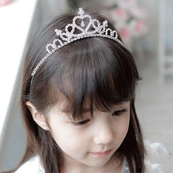 Glitter Rhinestone Princess Crown Tiara Headband Hair Band for Toddler Kid  Girls  df0f13cb6d2