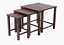 allen + roth nesting square coffee table 23.6-in w x 23.6-in l