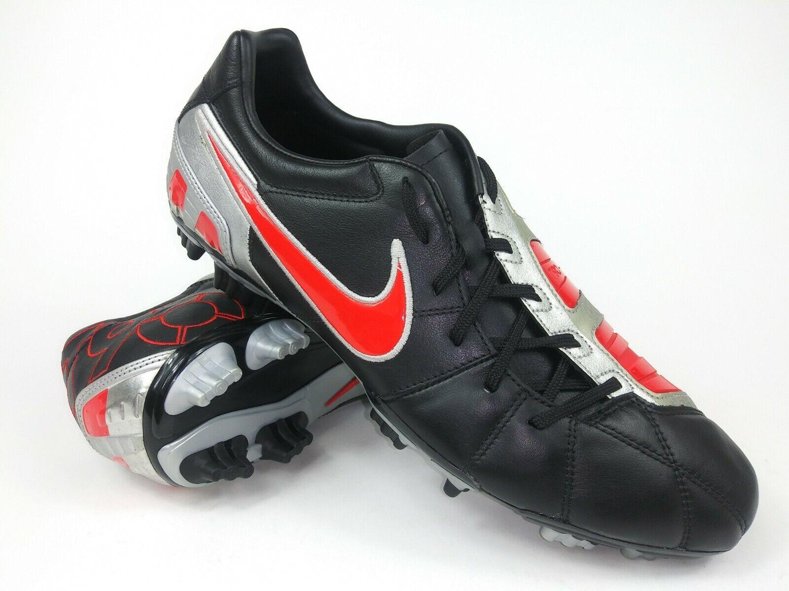 Nike Hombre Raro total 90 disparar Lll L-fg 385401-061 Negro Rojo Botines De Fútbol Talla 12