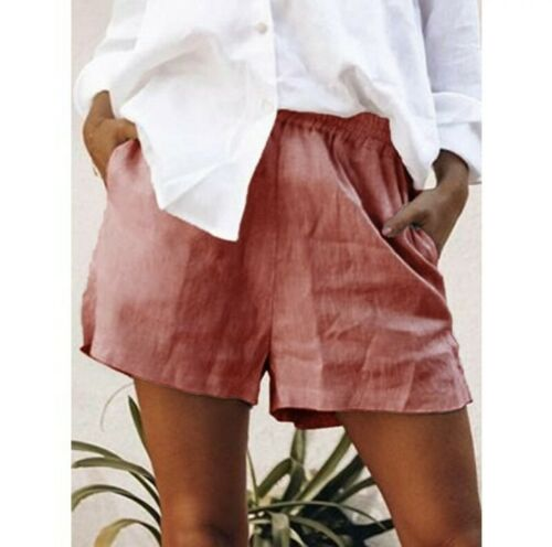 Women/'s Comfort Loose Casual Short Pants Elastic Waist Plus Size Summer Shorts B