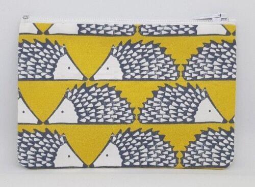 Scion /'Spike/' Hedgehog Fabric Handmade Zippy Coin Money Purse Storage Pouch