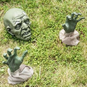 image is loading zombie halloween decorations animated zombie face spooky graveyard
