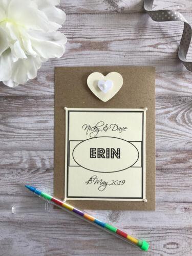 Activité Mariage Enfants Personnalisé Pack Sac Livre Style Vintage Coeur Cadeau