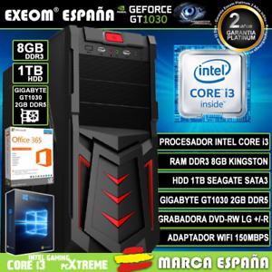 Ordenador-Gaming-Pc-Intel-i3-8GB-1TB-GT1030-2Gb-OC-Wifi-Sobremesa-Windows-10-Pro