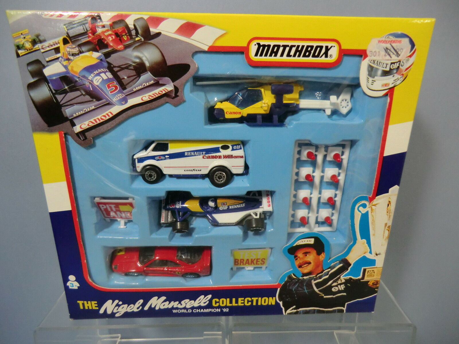 MATCHBOX MODEL No38820  NIGEL MANSELL COLLECTION  WORLD CHAMPION 92 GIFT SET MIB