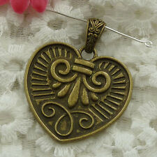 Free Ship 7 pieces bronze plated cute pendant 47x39mm #1123