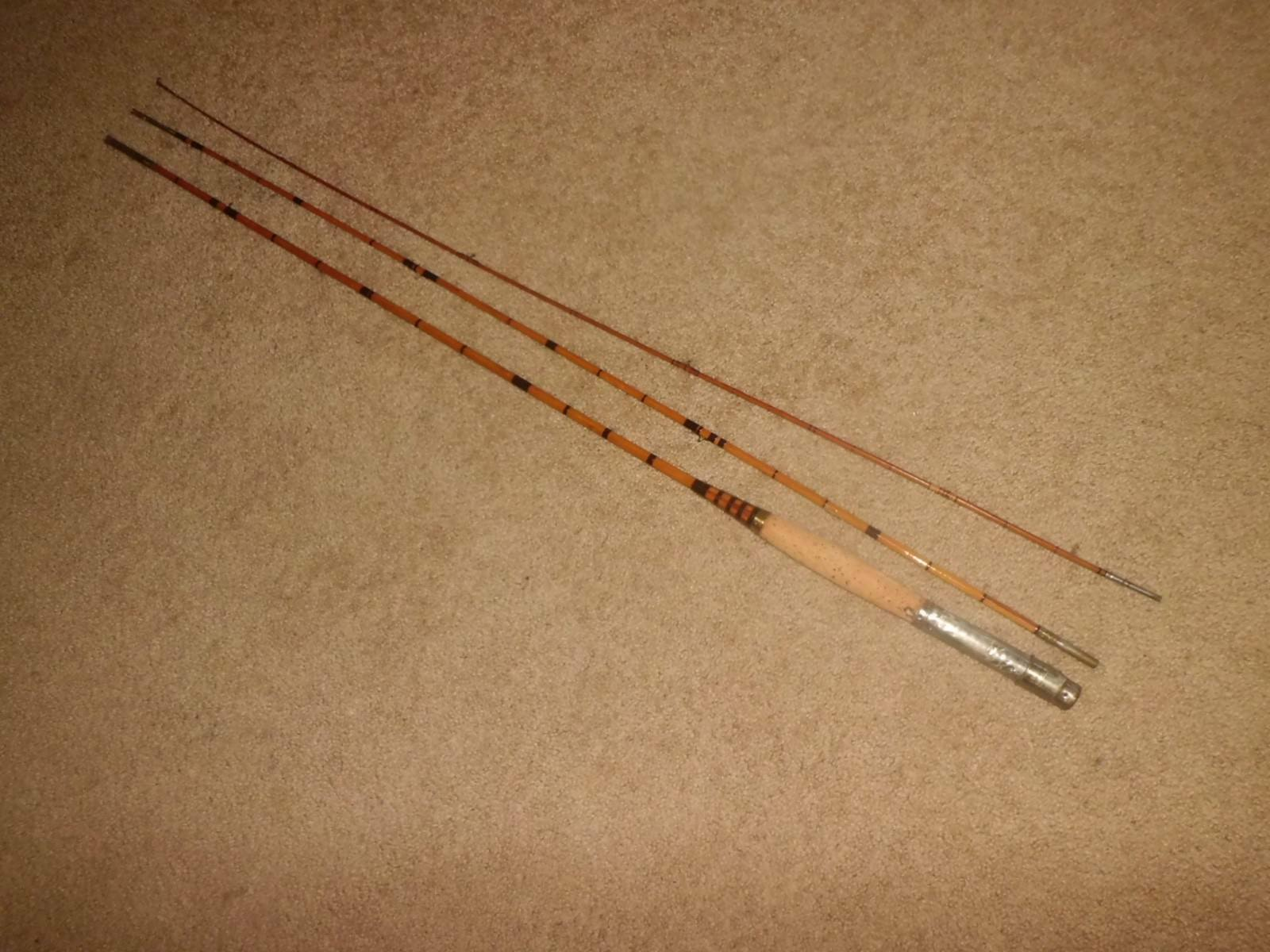 Vintage 3pc Bamboo Fly 9' Rod for Part Restoration Repair