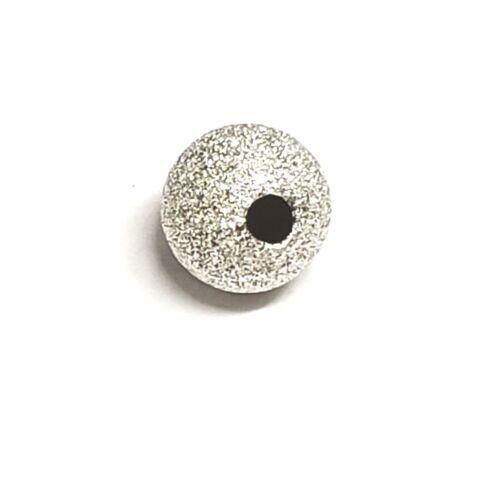 925 Sterling Silver Stardust Beads 3mm,4mm,5mm,6mm,7mm,8mm