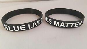 Image Is Loading Blue Lives Matter Wristbands Police Amp Law Enforcement