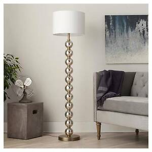 Image Is Loading Stacked Ball Floor Lamp Mercury Glass Threshold