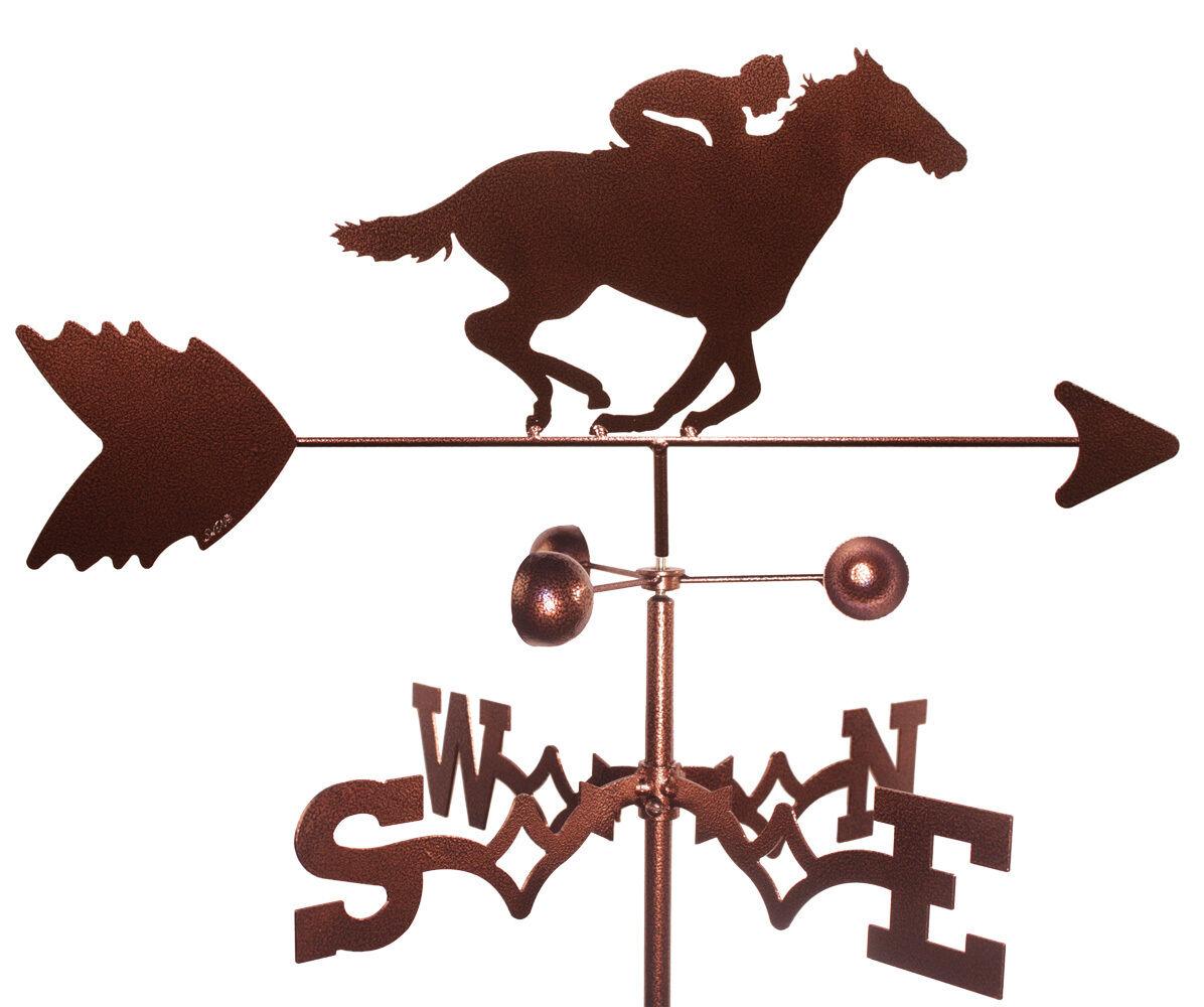Race Horse & Jockey Weathervane (Roof Mounting Included)