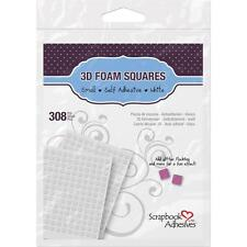 3L-SCRAPBOOK ADHESIVES 3D FOAM SQUARES-308 PCS-SELF ADHESIVE-WHITE-093616016121