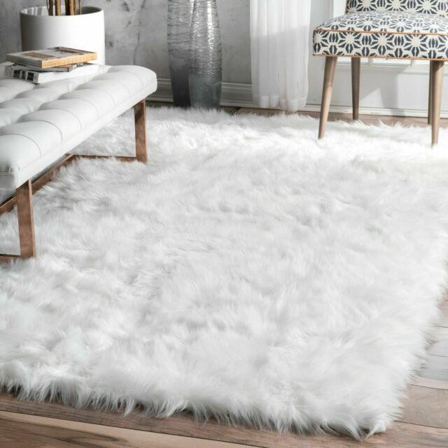 Very Soft Simple Solid Shag Area Rug