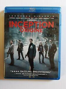 Inception-Blu-ray-DVD-2010-2-Discos-Canada-bilingue-No-Slip-cubierta