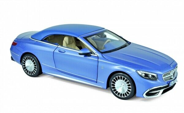 Norev 183471 Mercedes-Benz Maybach S650 Cabriolet  2018 with Soft Top bleu Metallic  articles promotionnels