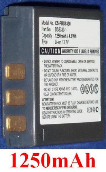 Batterie 1250mah Type Bats8 Bli-315 Ds8330-1 Pour Vivitar Vivicam 8300s