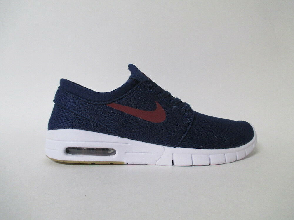 Nike SB Janoski Max Binary Blue Team Red White Sz 9.5 631303-469 Scarpe classiche da uomo