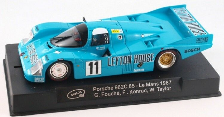Slot It  Leyton House  Porsche 962C 85 - 1987 Le Mans 1 32 Scale slot Car CA34A