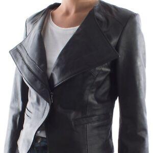 Black Jacket Lamb Women Leather Handmade Cropped Genuine Italian xz0waAqY