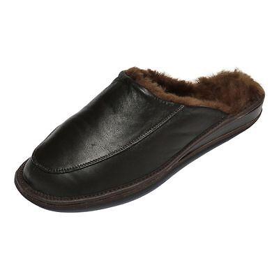 Affidabile Pantofole In Pelle Di Agnello - Jan Uomo Scarpe Pelliccia Vera Alta Resilienza
