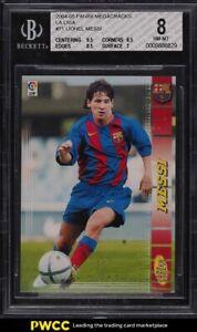 2004-Panini-Sports-Mega-Cracks-Lionel-Messi-ROOKIE-RC-71-BGS-8-NM-MT