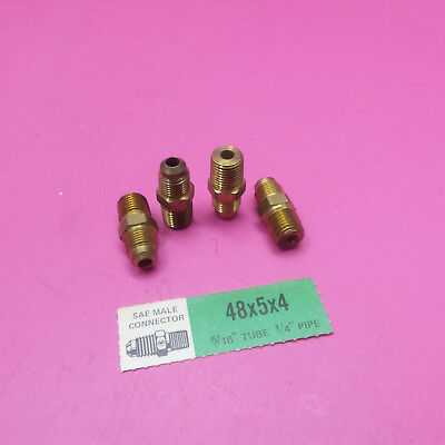 Eaton Weatherhead 49X5X4 Brass CA360 SAE 45 Degree Flare 90 Degree Elbow 1//4 NPT Male x 5//16 SAE Male