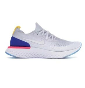 eec0df8bd2a32 Nike Epic React Flyknit OG Mens White Racer Blue Pink Blast AQ0067 ...