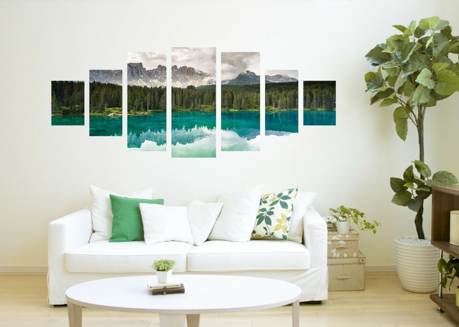 3D River Forest Tree 7 Unframed Print Wall Paper Decal Wall Deco Indoor AJ Jenny