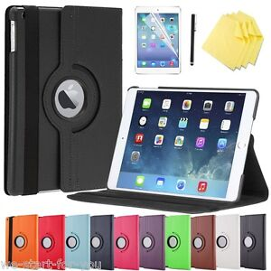 Edle-360-Apple-iPad-Air-2-Schutz-Hulle-Folie-Tasche-Smart-Cover-Case-Etui-10F